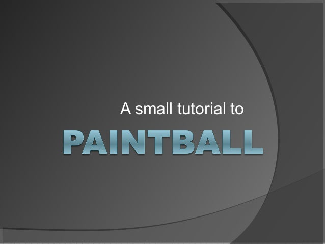 A small tutorial to