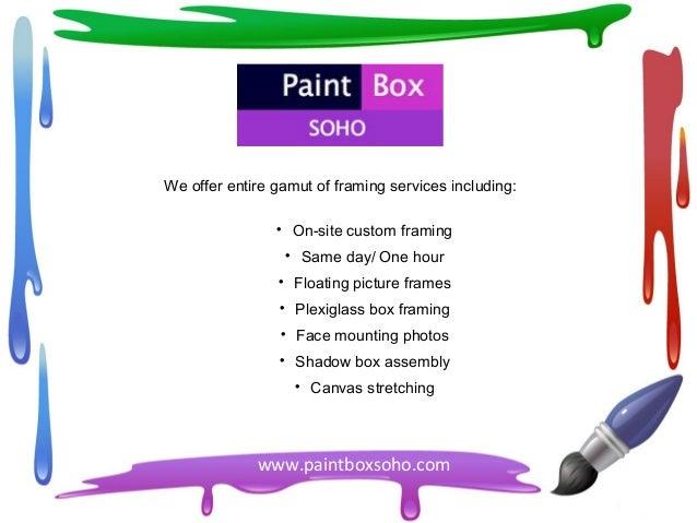 Picture Framing SoHo – Paintboxsoho.com
