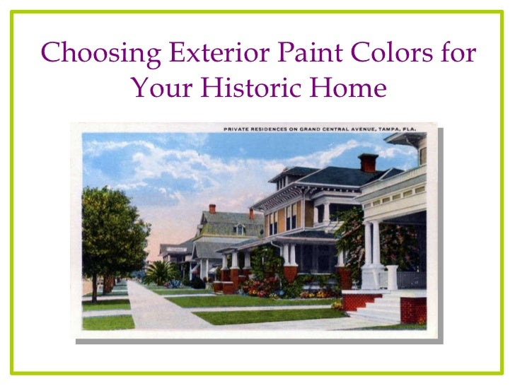 Choosing exterior colors for your historic florida house - How to choose paint colors for house exterior property ...