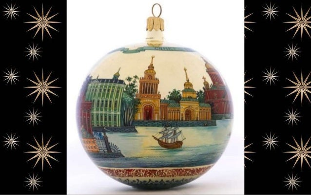 Painted Christmas Tree Glass globe, ( Morozov art studio)