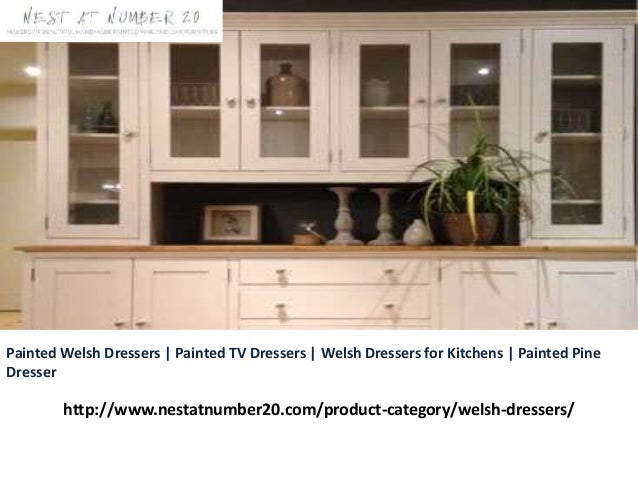 Painted Welsh Dressers   Painted TV Dressers   Welsh Dressers for Kitchens   Painted Pine Dresser http://www.nestatnumber2...