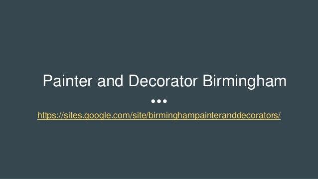 Painter And Decorator Birmingham