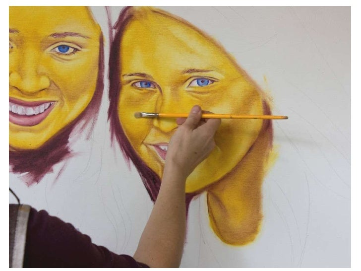 Painting a portrait in oil