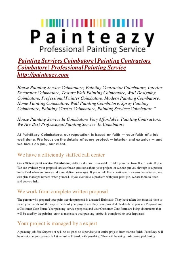 Painting Services Coimbatore Painting Contractors