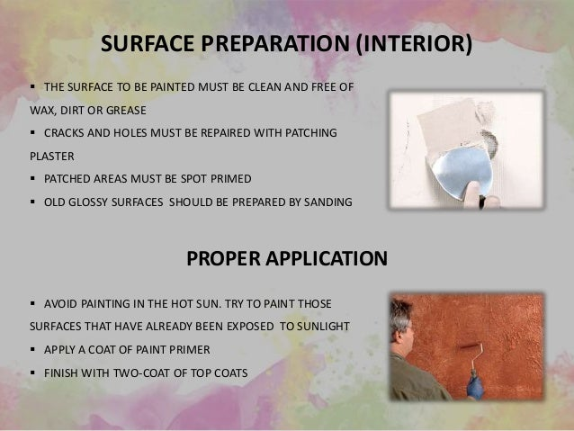 PAINTINGS OF EXTERIOR AND INTERIOR SURFACES