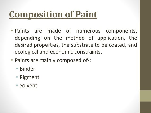 Paint And Its Application