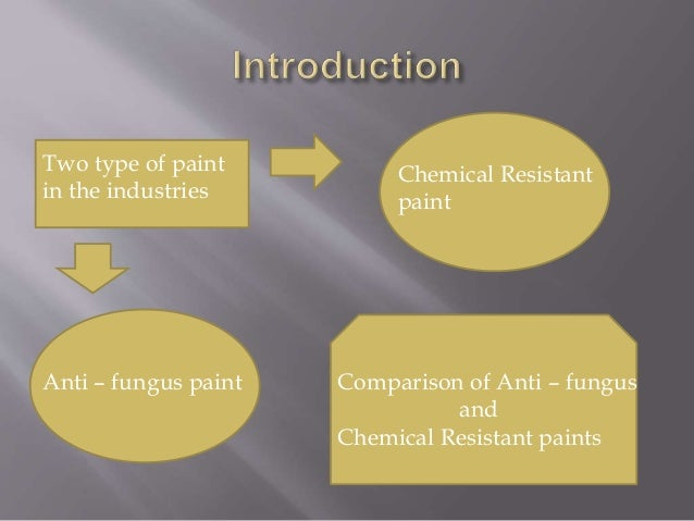 Anti – fungus paint Chemical Resistant paint Comparison of Anti – fungus and Chemical Resistant paints Two type of paint i...