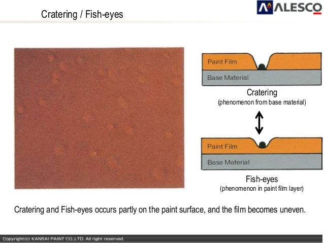 Paints defects and distempers for Fish eyes in paint