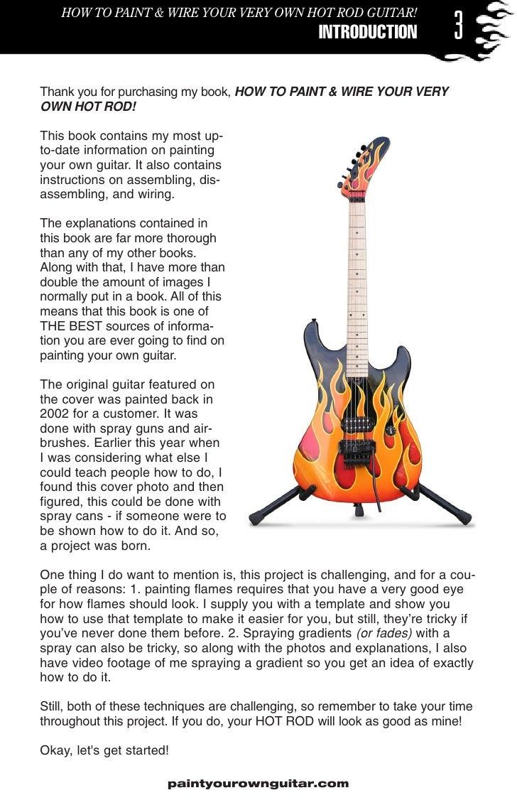 Guitar Wiring Books Diy Diagrams Pot Paintyourguitarhotrod Rh Slideshare Net 2 Pickups Diagram Two Humbuckers