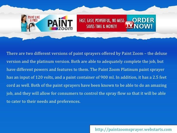 paint zoom sprayer instructions
