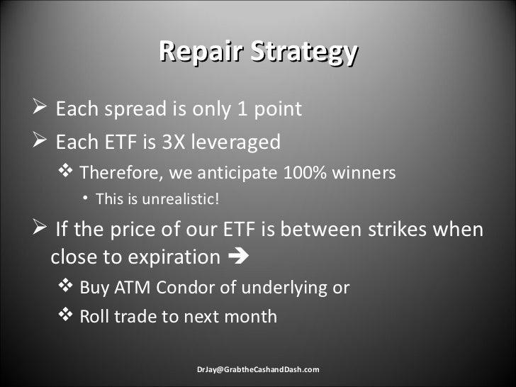 Repair Strategy <ul><li>Each spread is only 1 point </li></ul><ul><li>Each ETF is 3X leveraged </li></ul><ul><ul><li>There...