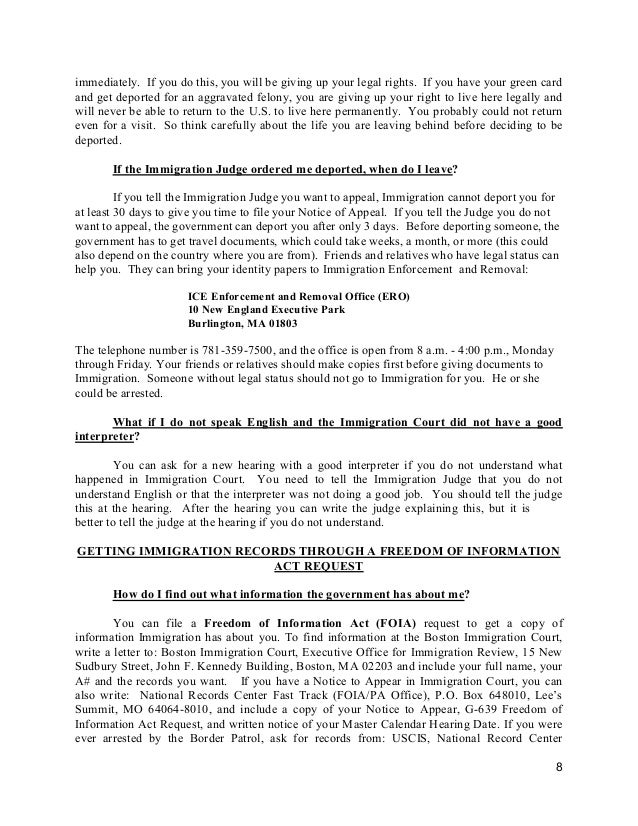 Self help manual for people detained by immigration eng you can tell the immigration judge that you want to return to your country 8 thecheapjerseys Gallery