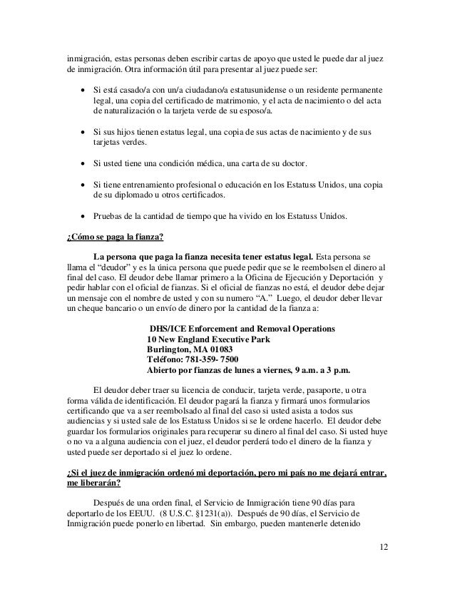 Self-Help Manual for People Detained by Immigration (Spanish)