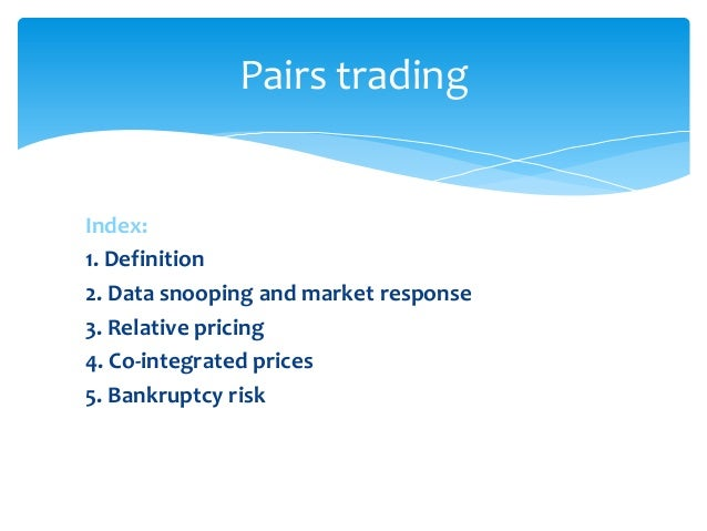 Market neutral pairs trading strategy