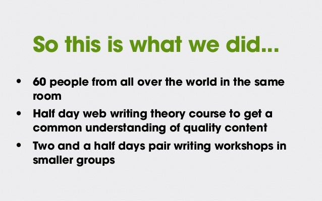 Pair writing: better content, more customer-focused