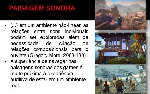 A criação de diferentes paisagens sonoras para uma mesma tela, cena ou fase de um game estimula a irrupção de novas leitur...