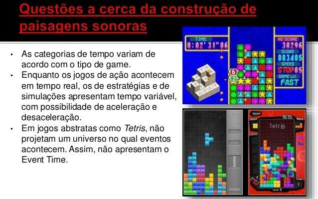 Eventos são ocorrências em um sistema ( game) induzidas ( programação ) ou pelo usuário ( jogador), por meio de um disposi...