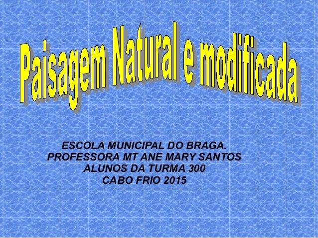 ESCOLA MUNICIPAL DO BRAGA. PROFESSORA MT ANE MARY SANTOS ALUNOS DA TURMA 300 CABO FRIO 2015