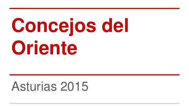 Concejos del Oriente Asturias 2015