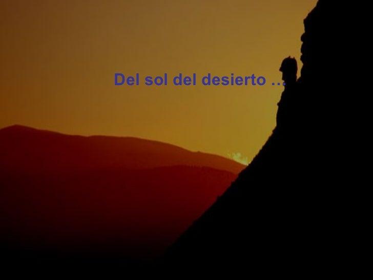 <ul><li>Del sol del desierto … </li></ul>