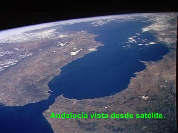Vista deatélite Andalucía vista desde satélite.