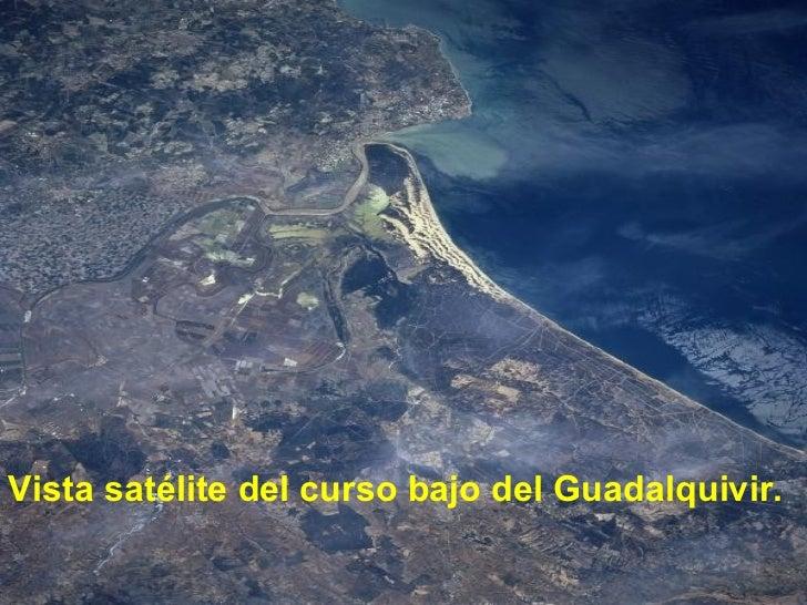 <ul><li>Vista satélite del curso bajo del Guadalquivir. </li></ul>