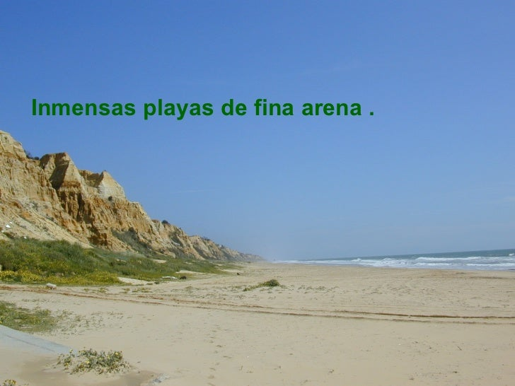<ul><li>Inmensas playas de fina arena . </li></ul>