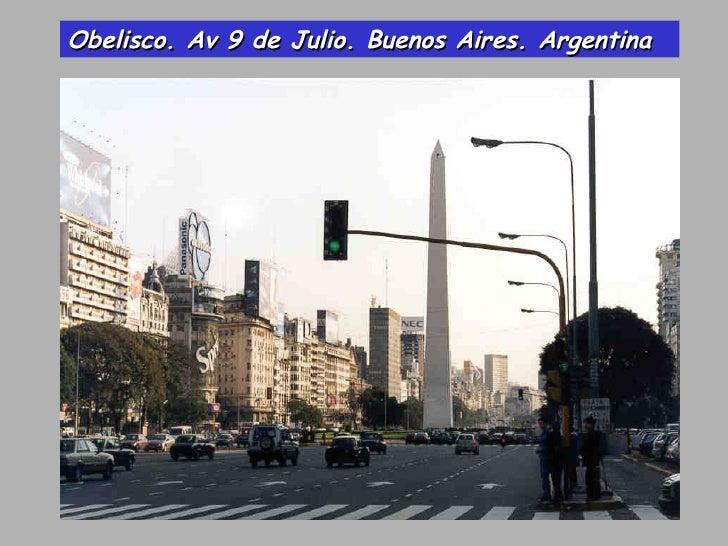 Obelisco. Av 9 de Julio. Buenos Aires. Argentina