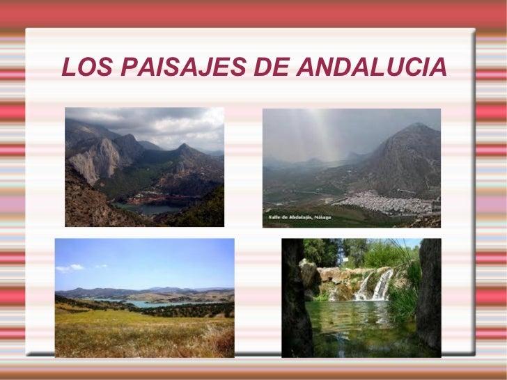 LOS PAISAJES DE ANDALUCIA