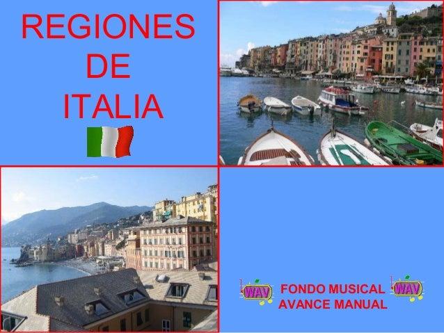 REGIONES DE ITALIA FONDO MUSICAL AVANCE MANUAL