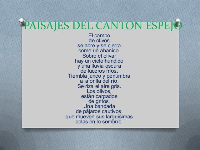 Paisajes del canton espejo for Espejo que se abre