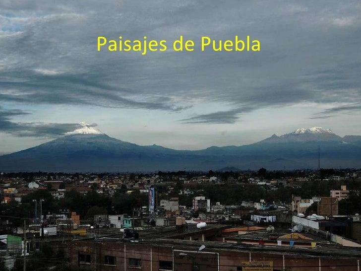 Paisajes de Puebla