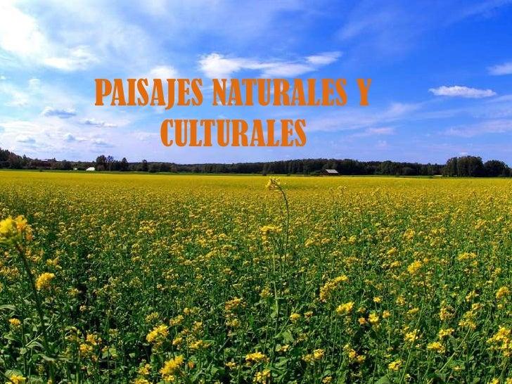 PAISAJES NATURALES Y CULTURALES<br />