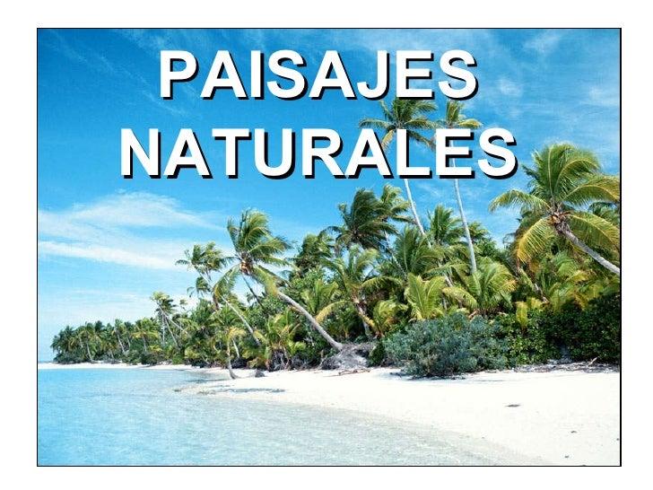 PAISAJES NATURALES
