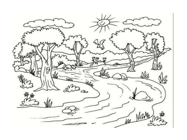 Dibujos Para Colorear Paisajes Infantiles Dibujos Naturales