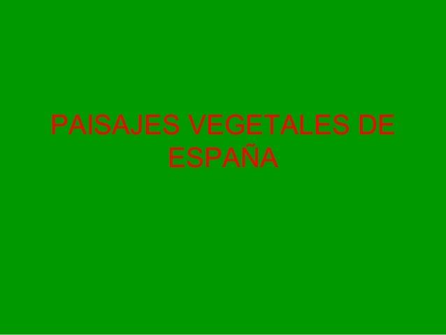 PAISAJES VEGETALES DE ESPAÑA