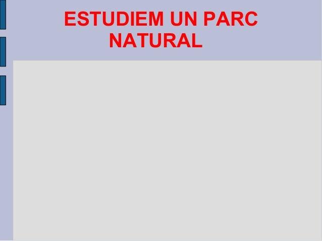 ESTUDIEM UN PARC NATURAL