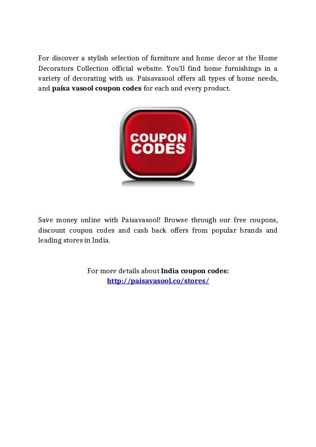 Paisavasool Provides You Unlimited Coupon Codes All At A Glance For Y
