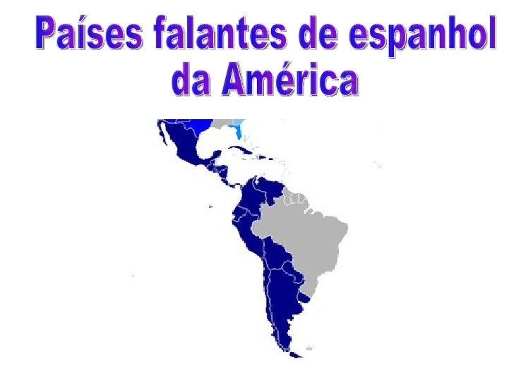 Países falantes de espanhol  da América
