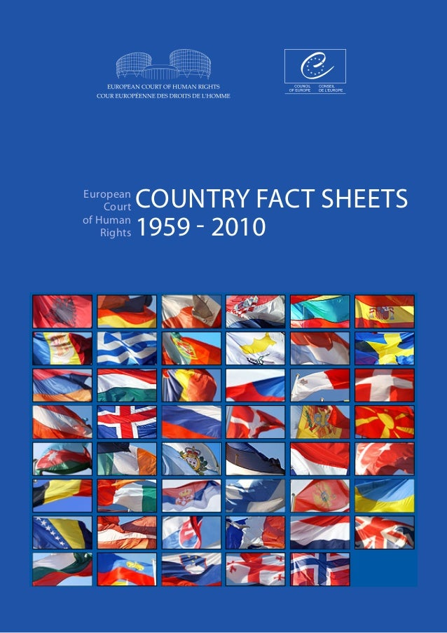 COUNTRY FACT SHEETS1959 - 2010EuropeanCourtof HumanRightswhite on white version
