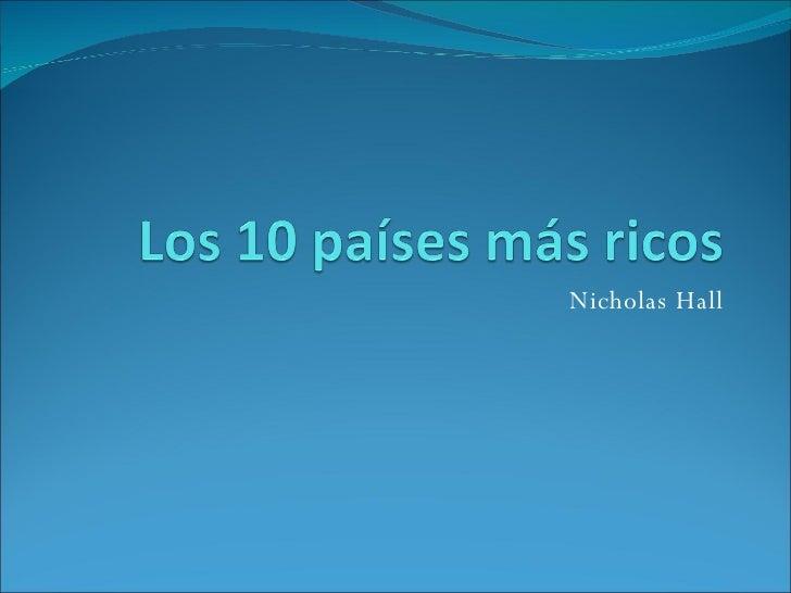 Nicholas Hall