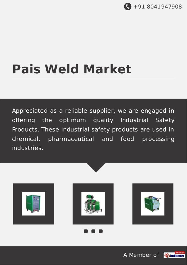 +91-8041947908 A Member of Pais Weld Market Appreciated as a reliable supplier, we are engaged in offering the optimum qual...