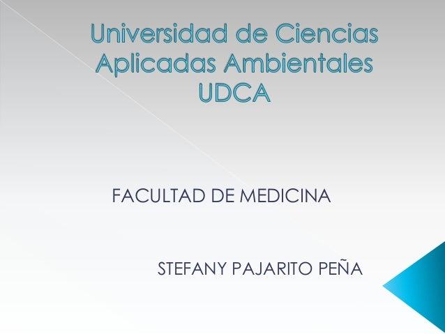 FACULTAD DE MEDICINA STEFANY PAJARITO PEÑA