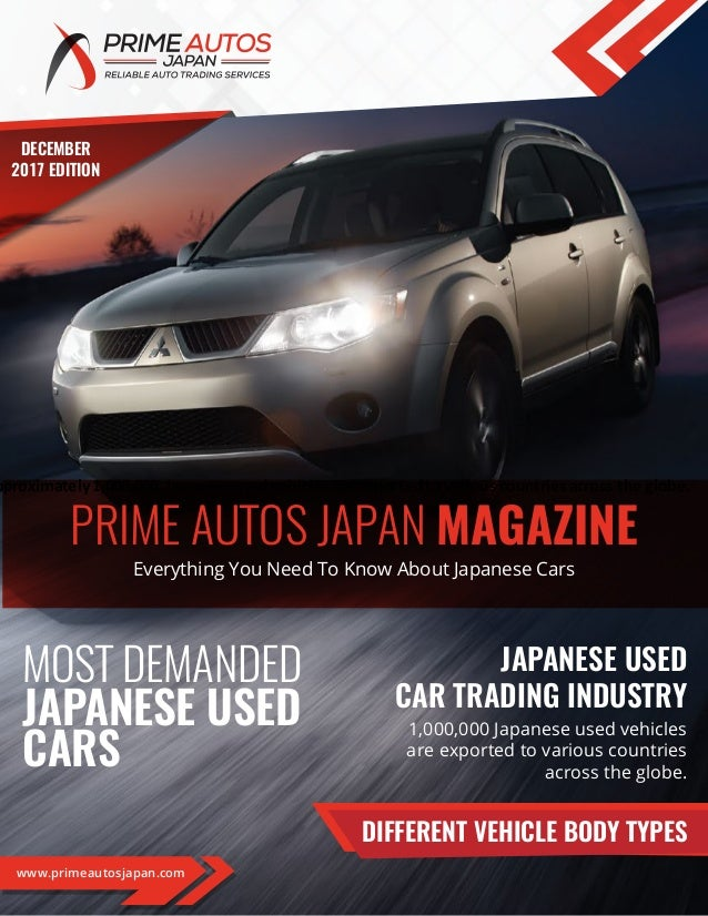 Prime Autos Japan Magazine- December 2017 Edition