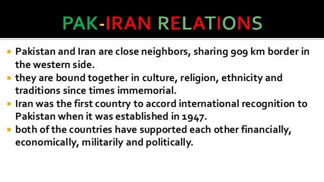 Pak iran relations essay about myself