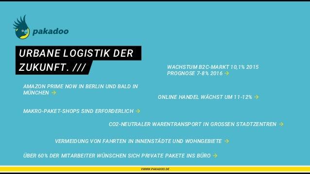 URBANE LOGISTIK DER MAKRO-PAKET-SHOPS SIND ERFORDERLICH  ZUKUNFT. /// AMAZON PRIME NOW IN BERLIN UND BALD IN MÜNCHEN  WA...