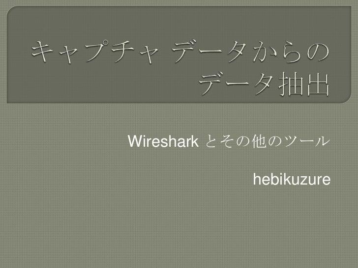 Wireshark とその他のツール           hebikuzure