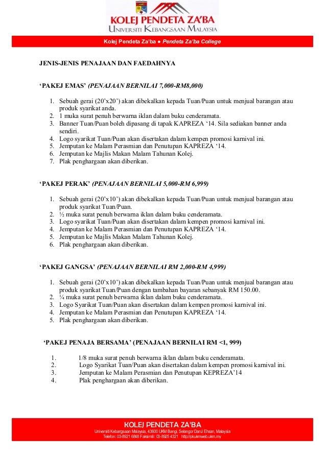 KOLEJ PENDETA ZA'BA Universiti Kebangsaan Malaysia, 43600 UKM Bangi, Selangor Darul Ehsan, Malaysia Telefon: 03-8921 6848 ...