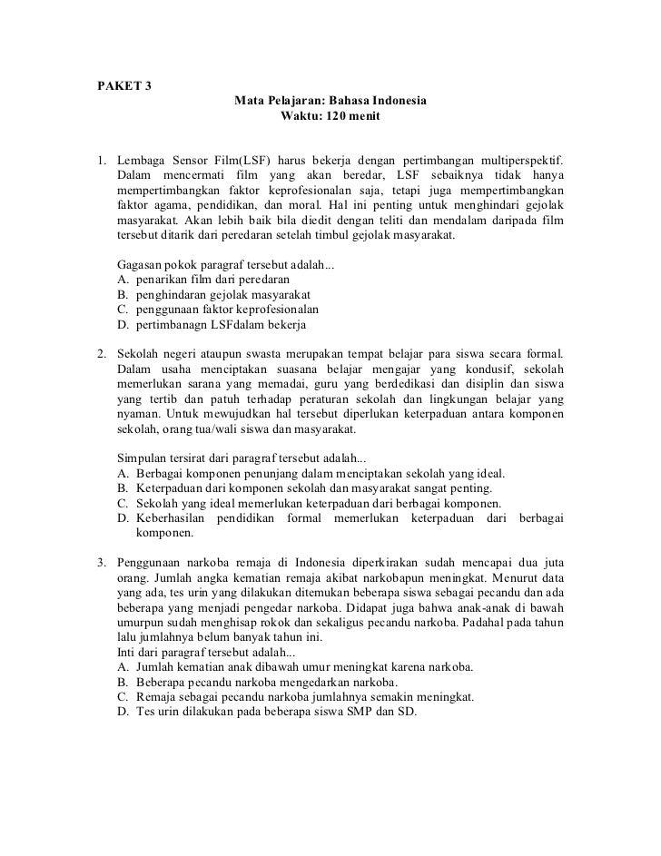 Paket 3 Bahasa Indonesia