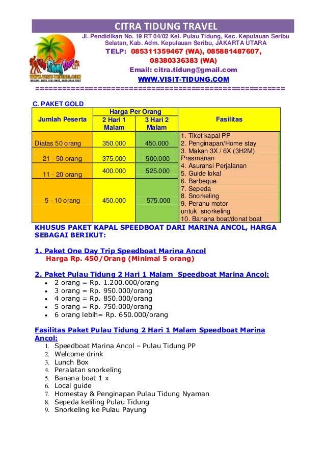 Download Proposal Paket Wisata Murah Slide 2